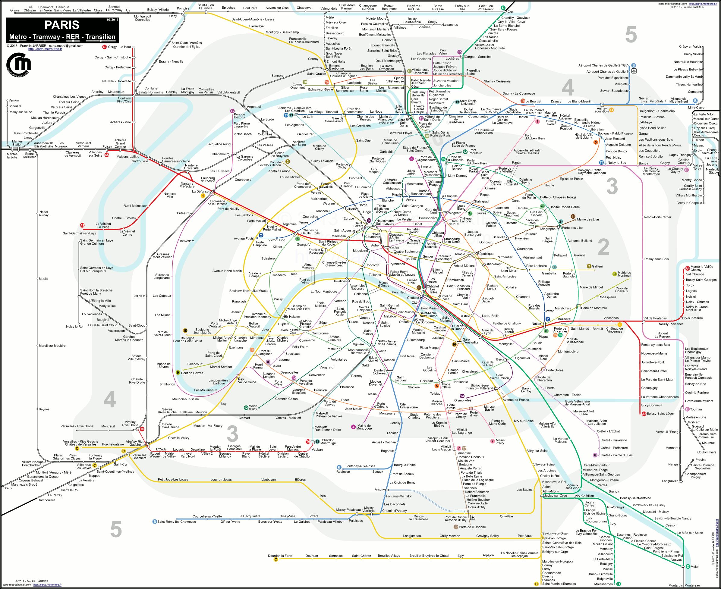 Plan du voyageur Metro/Tram/RER