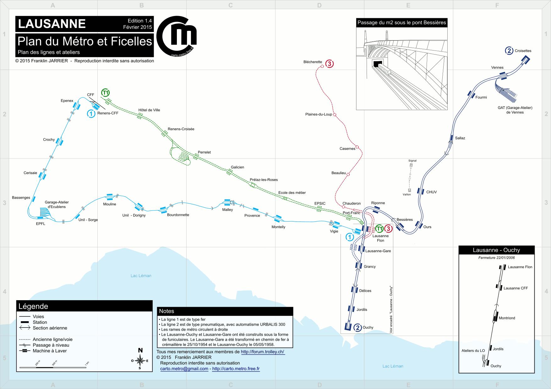 Detailled Tracks map   Paris, Lyon, Lausanne, Milan, Turin tracks maps