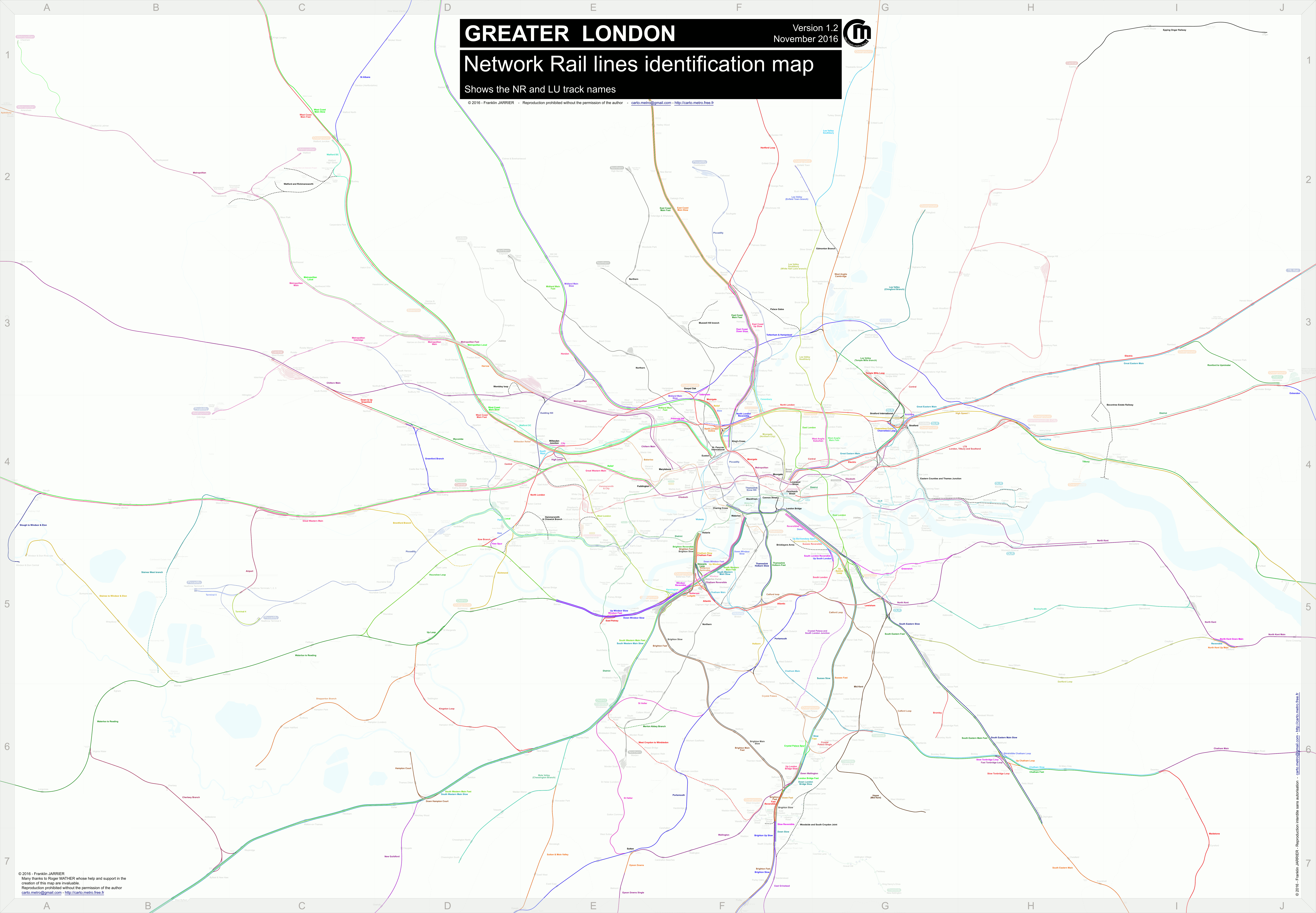 London Rail Lines - London map png