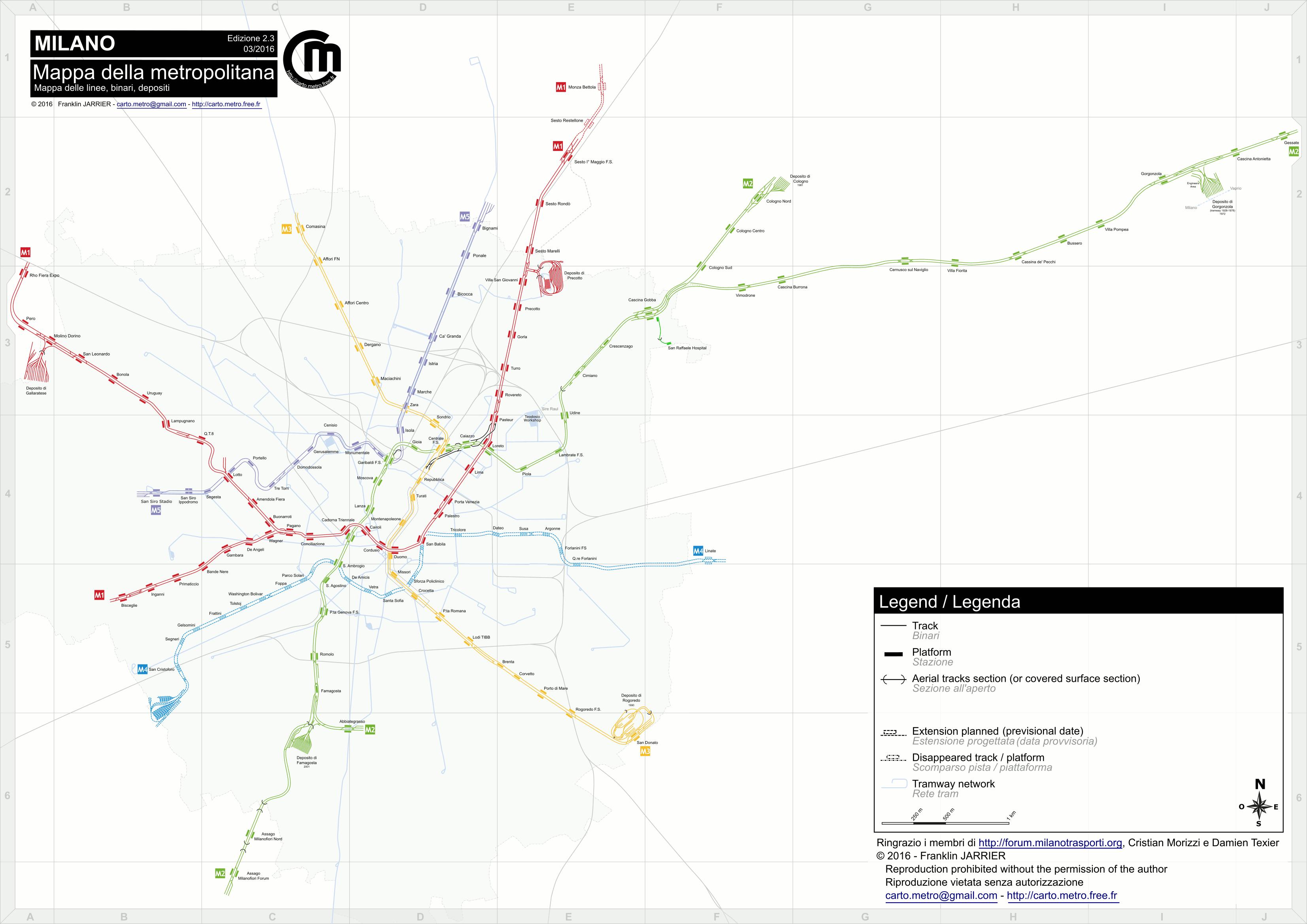 Milan Subway Map.Detailled Tracks Map Paris Lyon Lausanne Milan Turin Tracks Maps