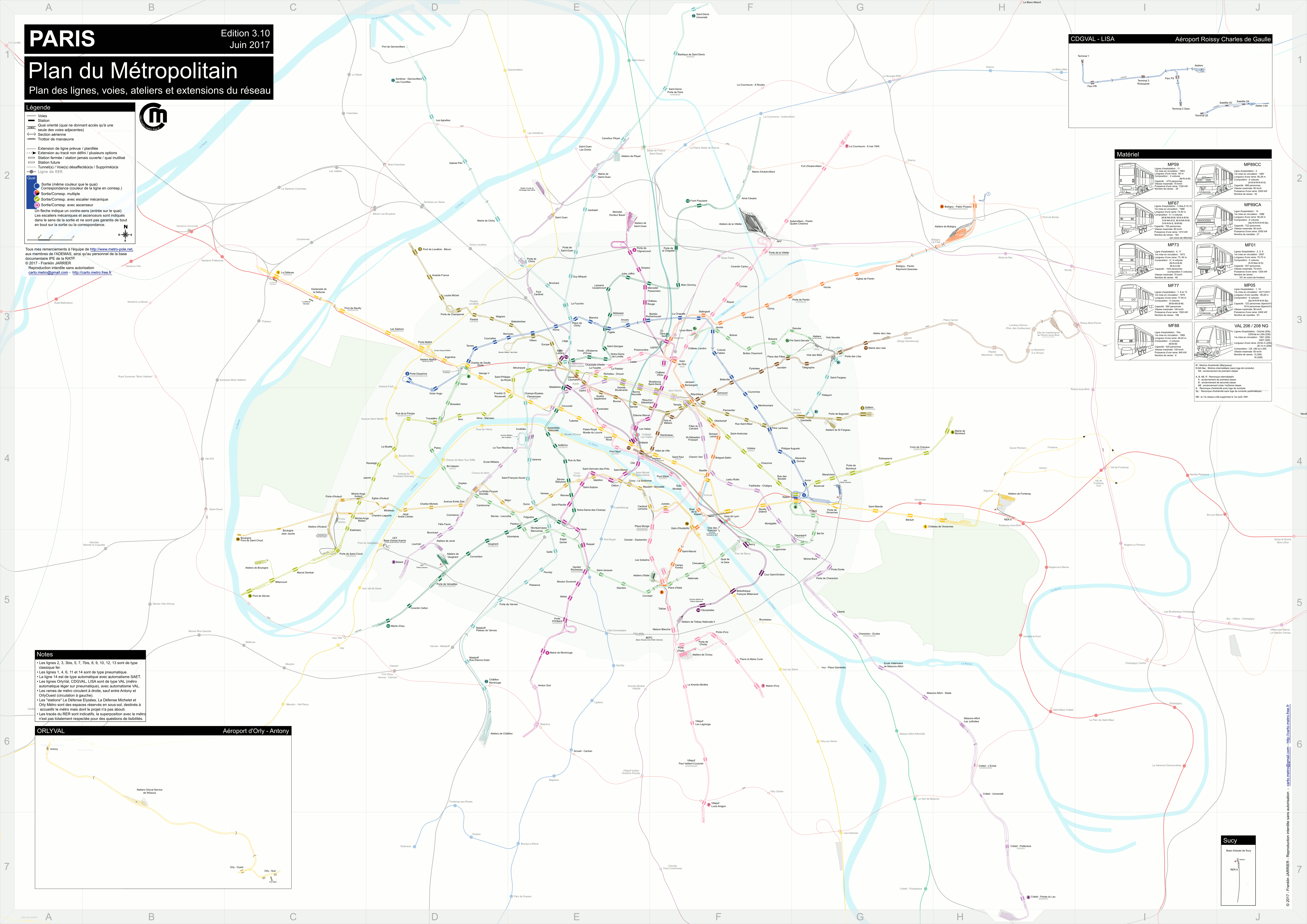 Detailled Tracks Map Paris Lyon Lausanne Milan Turin Tracks Maps - Paris map metro