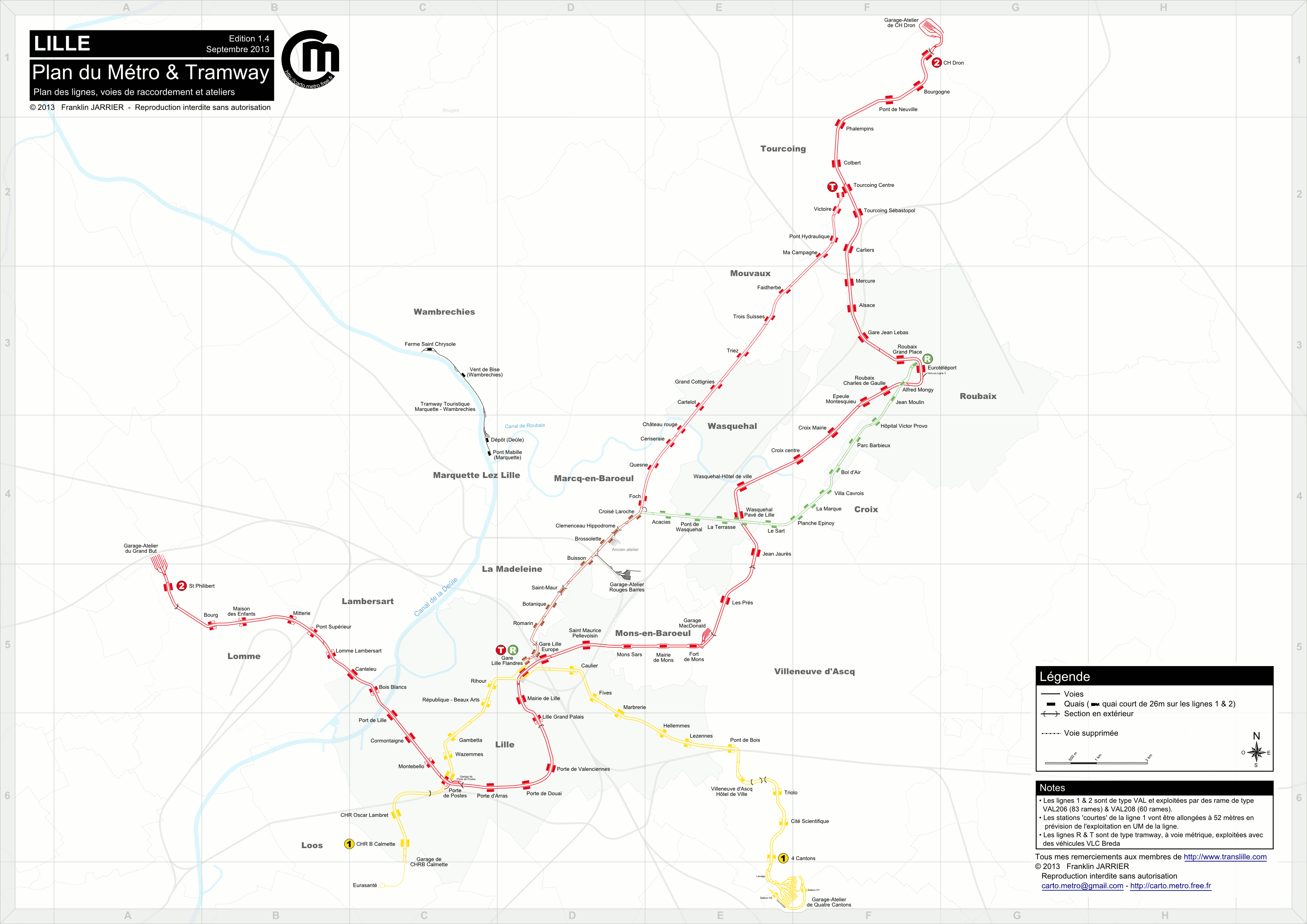 Detailled Tracks map   Paris, Lyon, Lausanne, Milan, Turin tracks maps