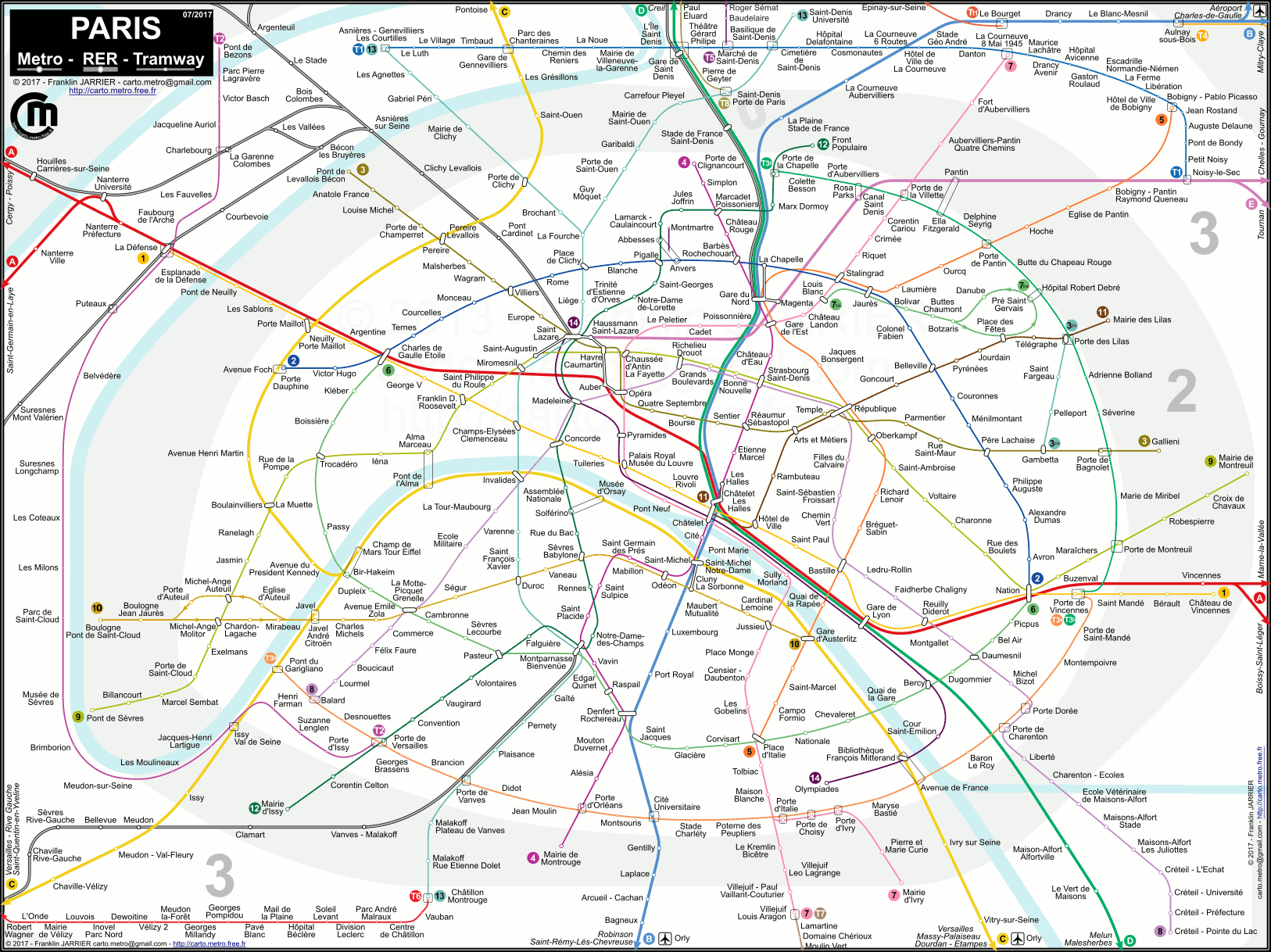 Plan metro rer for Images et documents paris