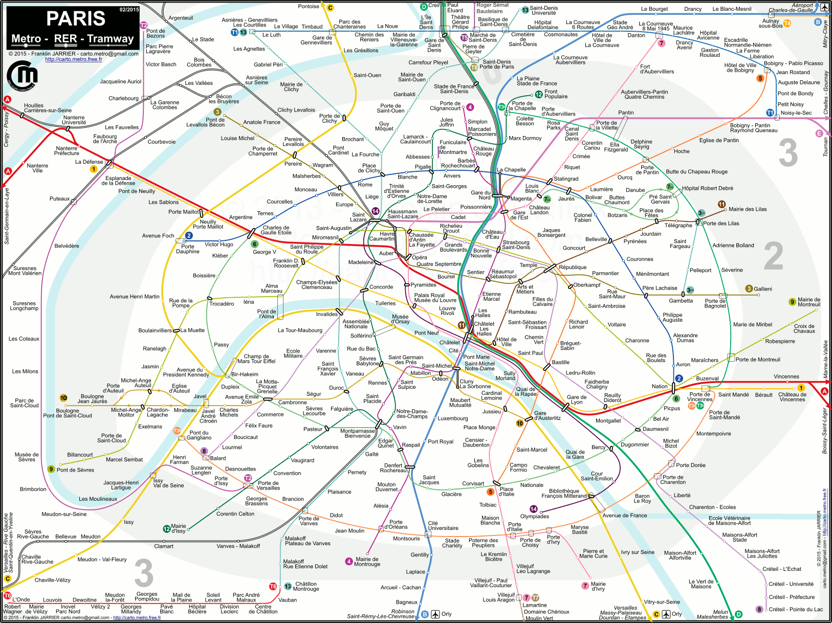 Plan De Metro Et Tramway Parisien | Subway Application