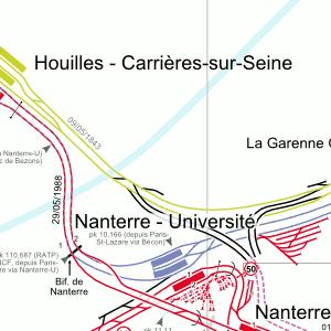 Cartes détaillées - Plan du RER d\'Ile-de-France
